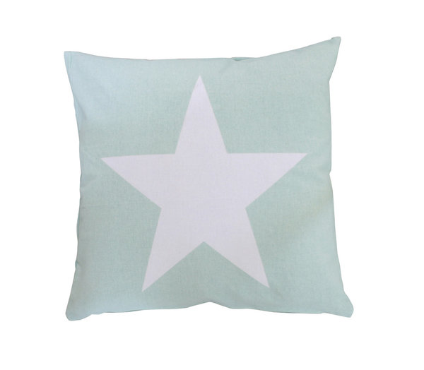 Kissenbezug Stern Cushion cover big star minty Krasilnikoff