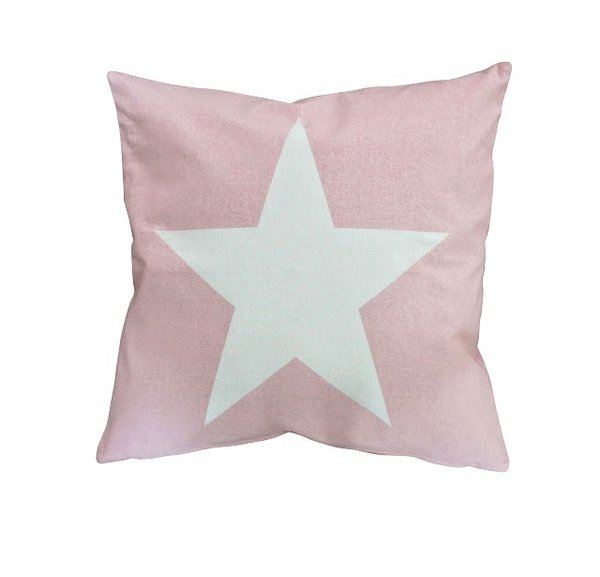 Kissenbezug Cushion cover big star pink Krasilnikoff